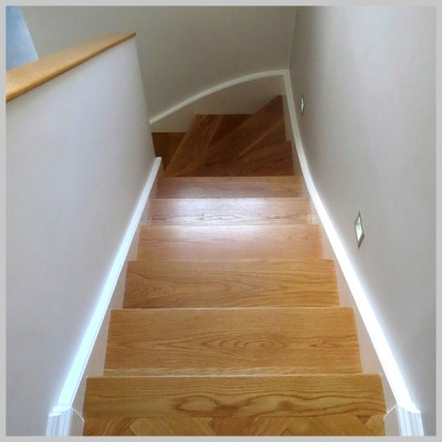 Solid Oak Stair Case